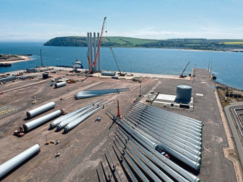 Components for the Beatrice offshore windfarm at Nigg Energy Park