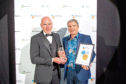 Left: Dave Danson, Hendrix Genetics; Right: Outstanding Contribution to the Industry award winner Stewart Graham, MD of Gael Force Group