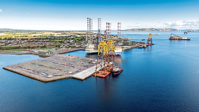 The Port of Cromarty Firth's Invergordon service base.
