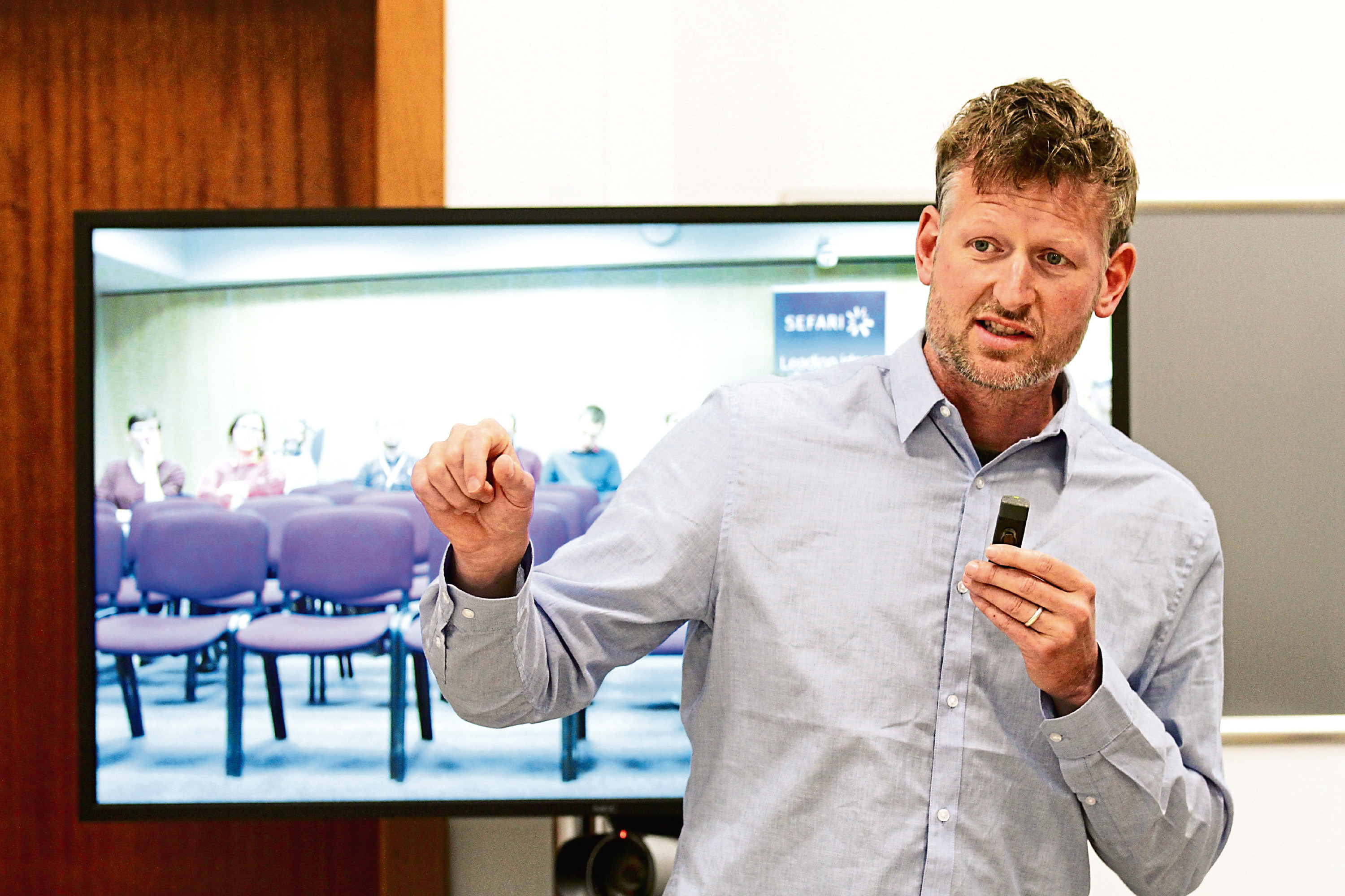 Mark Lynas during his lecture