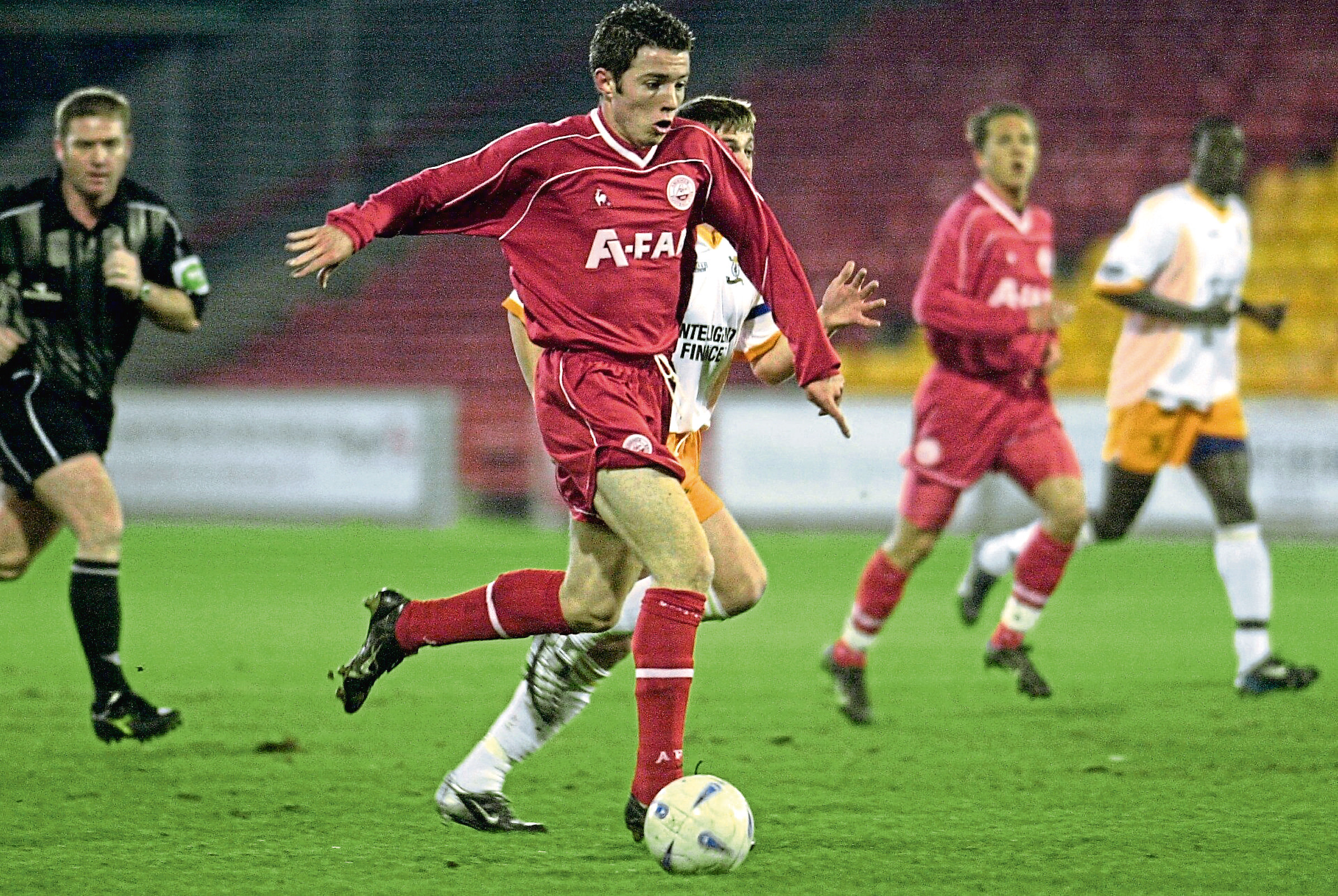 McNaughton during his time with Aberdeen