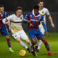 Tom Walsh goes up against Caley Thistle's Collin Seedorf last month.