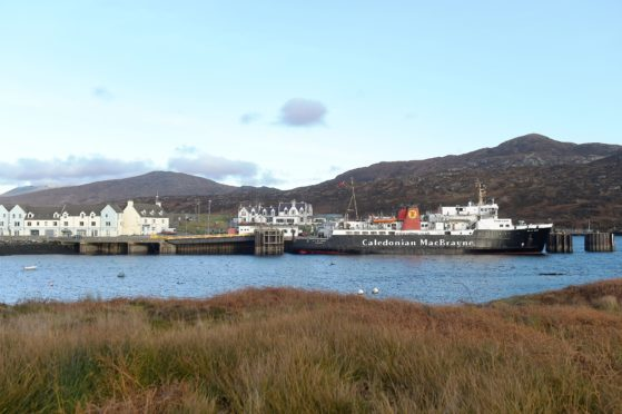 A general view of Lochboisdale, South Uist