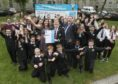 Coucillor Douglas Lumsden, Aberdeen City Council Co Leader was invited to attend the award ceremony for the UNICEF Gold Award Banner and met Ashleigh Wilson ( Lead co ordinator in Rights Respective Initiative) and Paula Paulima, (16YO S4-Rights Respective Ambassador)