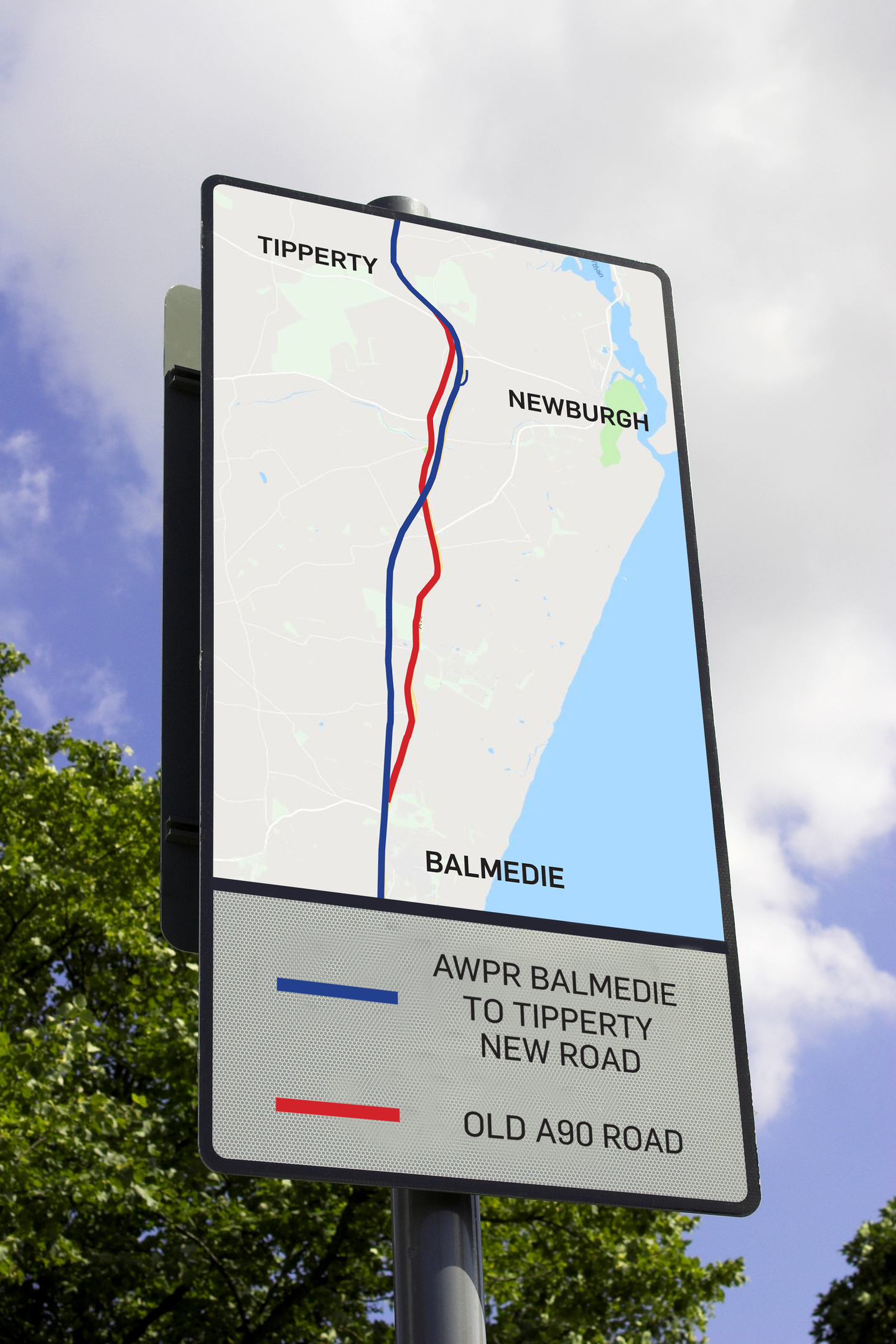 From Monday traffic will use the northbound dual carriageway of the new road between Balmedie and Tipperty