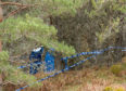 Police carried out investigations into the discovery of human remains on Invercauld Estate, near Ballater.
