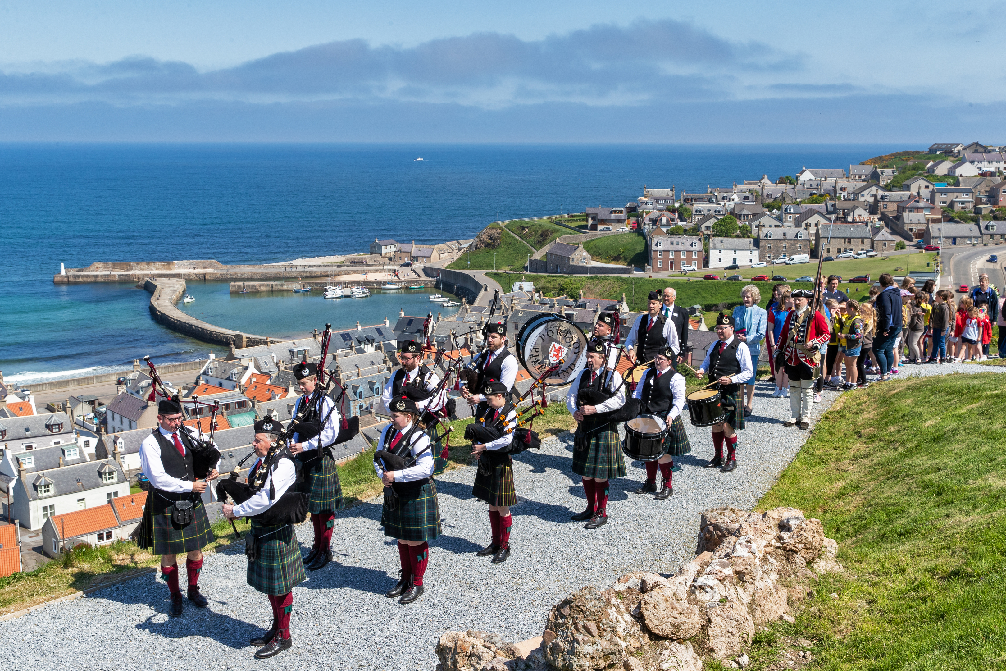 The opening ceremony of the historic Castle Hill at Cullen. Picture by Brian Smith