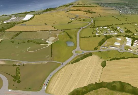 An artists impression of the new linking roads.