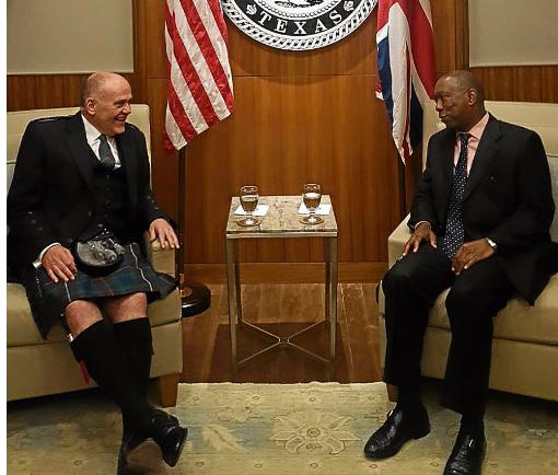 Barney Crockett with Houston Mayor Sylvester Turner