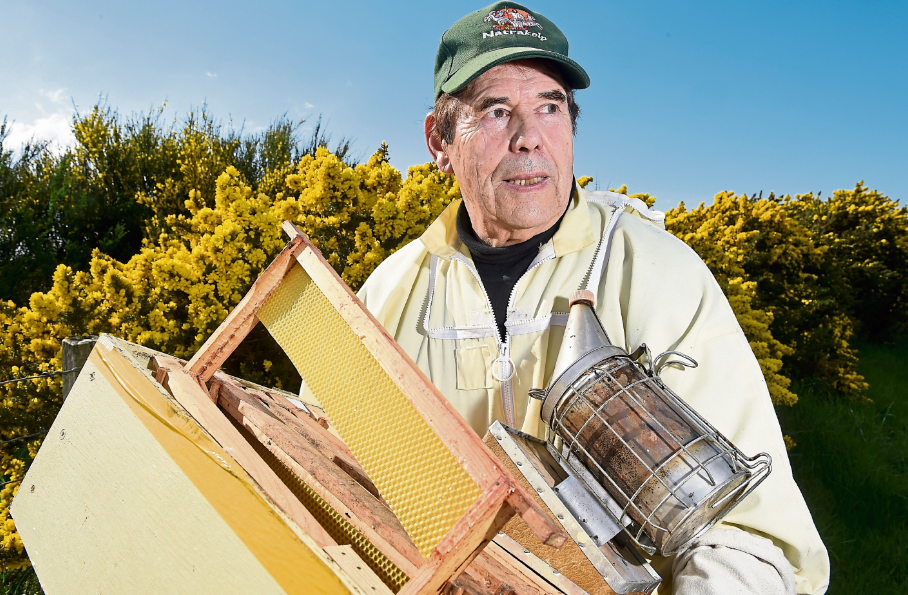 Aidan Scotland MBE was told of the damage to his double hive Easter Delnies when a friend and member of the Nairn Beekeepers Association raised the alarm around 9.30pm on Saturday evening