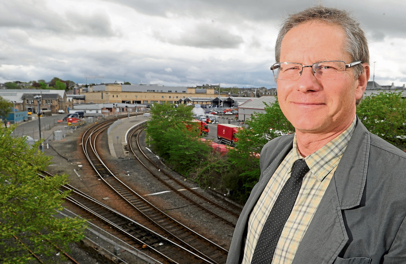 """Frank Roach,manager at north transport partnership Hitrans, said there is a lot of interest being generated in """"creating something really significant"""" in the city centre"""