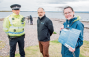 Pictured (L-R) are: PC Daniel Sutherland, Wildlife Crime Liaison Officer; Ben Leyshon of SNH and Alison Rose of Whale and Dolphin Centre at Speybay