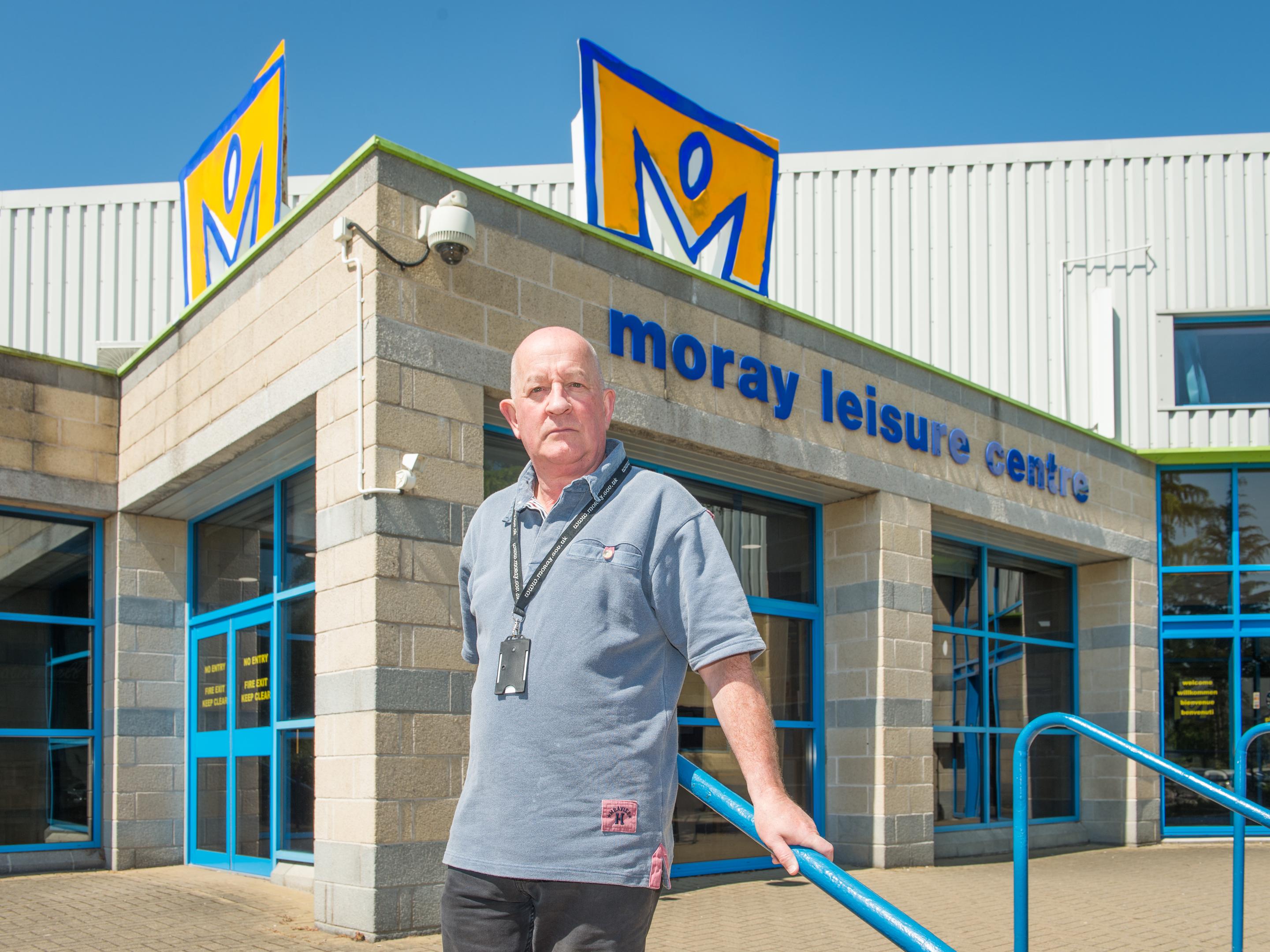 Speyside Glenlivet councillor Derek Ross outside Moray Leisure Centre