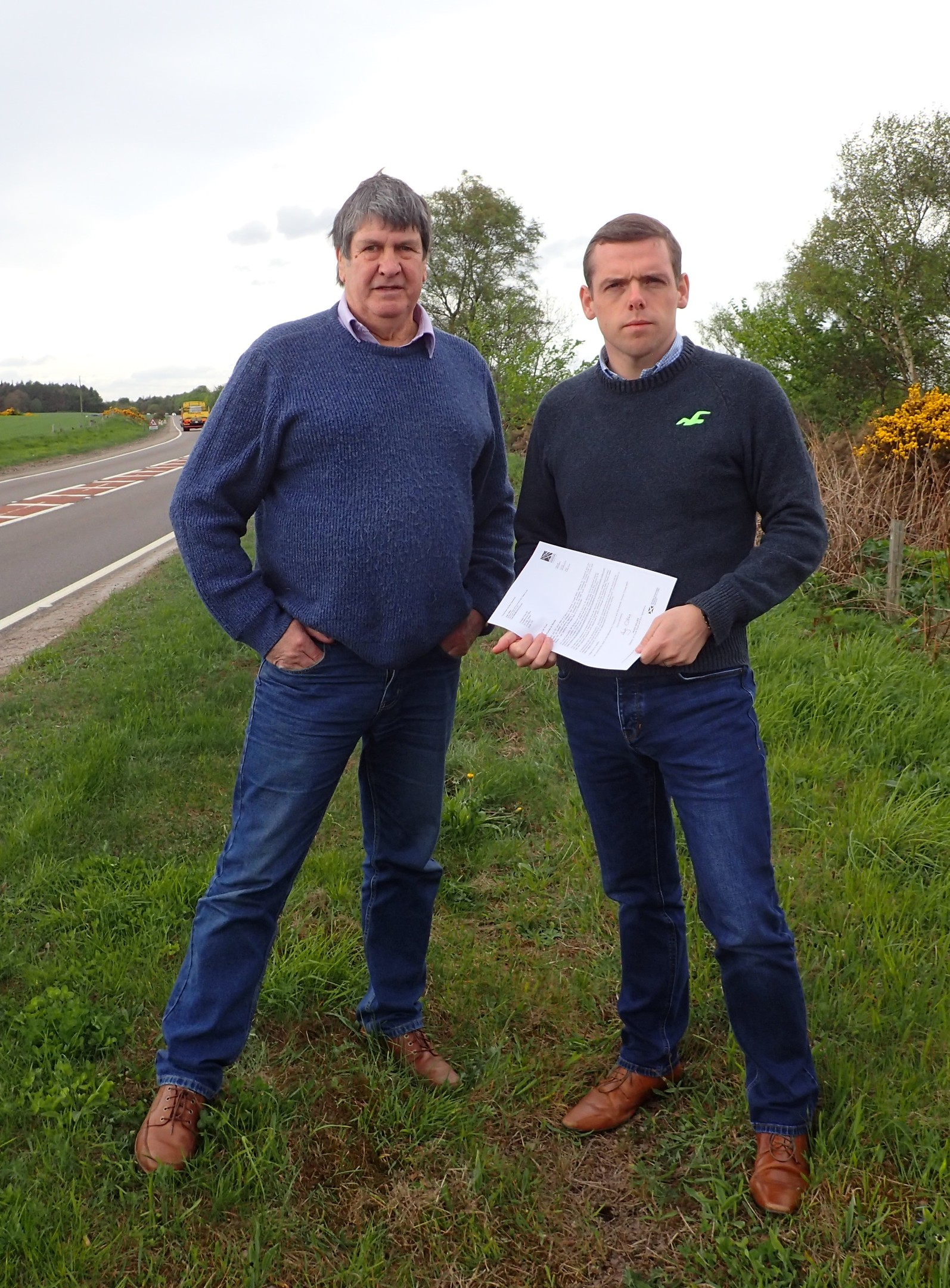 Moray MP Douglas Ross with campaigner Neil Jeronim