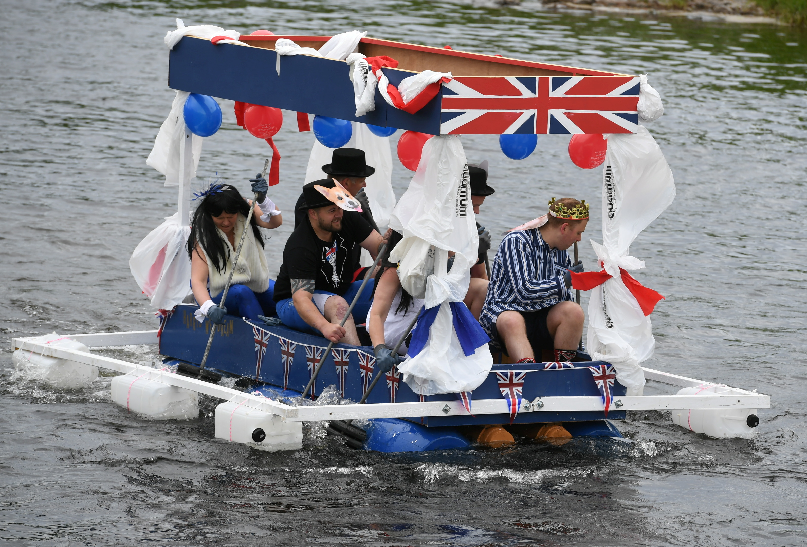 Marykirk raft race. Picture by Chris Sumner