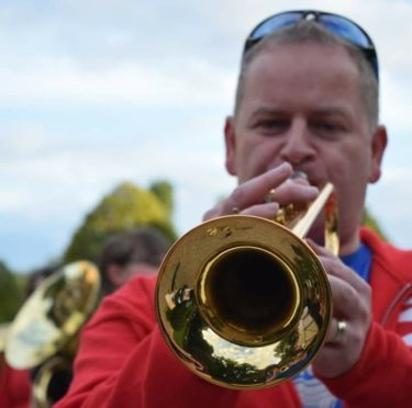 Glenn Munro is conductor at Moray Concert Brass