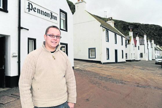 Pennan Inn landlord, Peter Simpson.