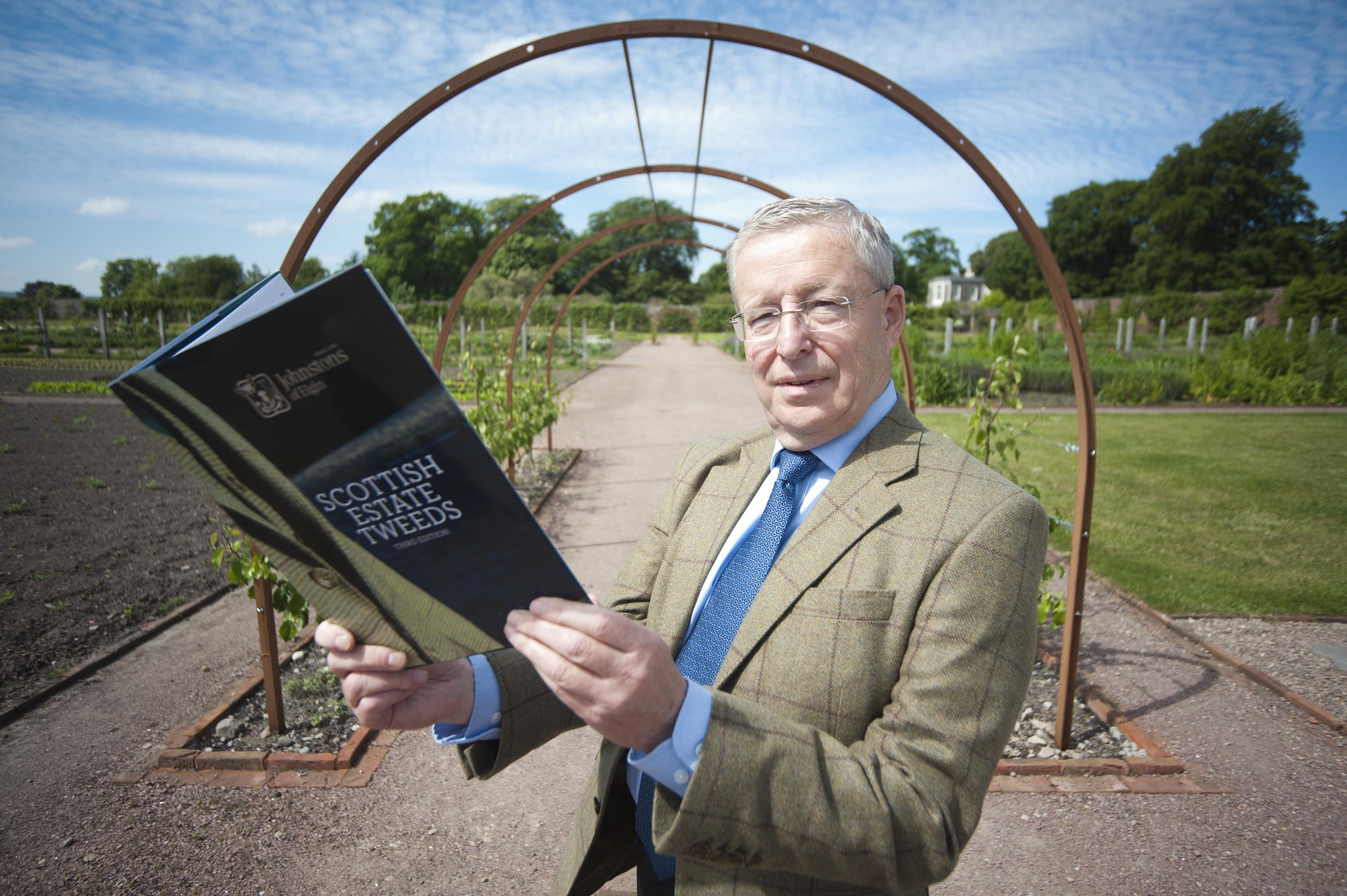 Author Ian Urquhart, chairman of Johnstons of Elgin, has written a book showcasing the history of estate tweeds in Scotland.