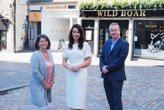 Nicola Johnston (centre), Aberdeen Inspired's evening and night time economy manager, has organised the event, which will see 13 speakers taking part.