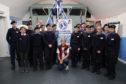 Jane Allen with Aberdeen sea cadets.