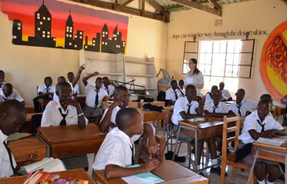 Jennifer MacDonald, an employee at Norbord in Inverness, who visited Kenya to teach in a girls school.