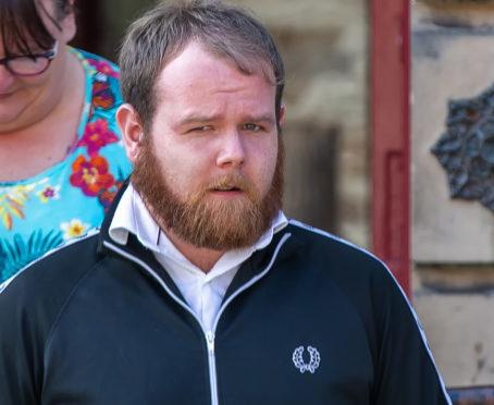 Kevin Robertson leaving Elgin Sheriff Court.