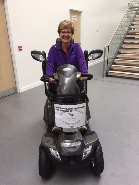 The new Vapor X75 'Baxter' which will join the Shopmobility Lochaber fleet