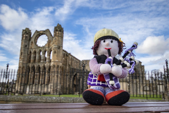 """Morag the piper is a member of the hand-made group, commonly known as the """"smallest pipe band in the world"""", which has traditionally appeared at Piping at Forres"""