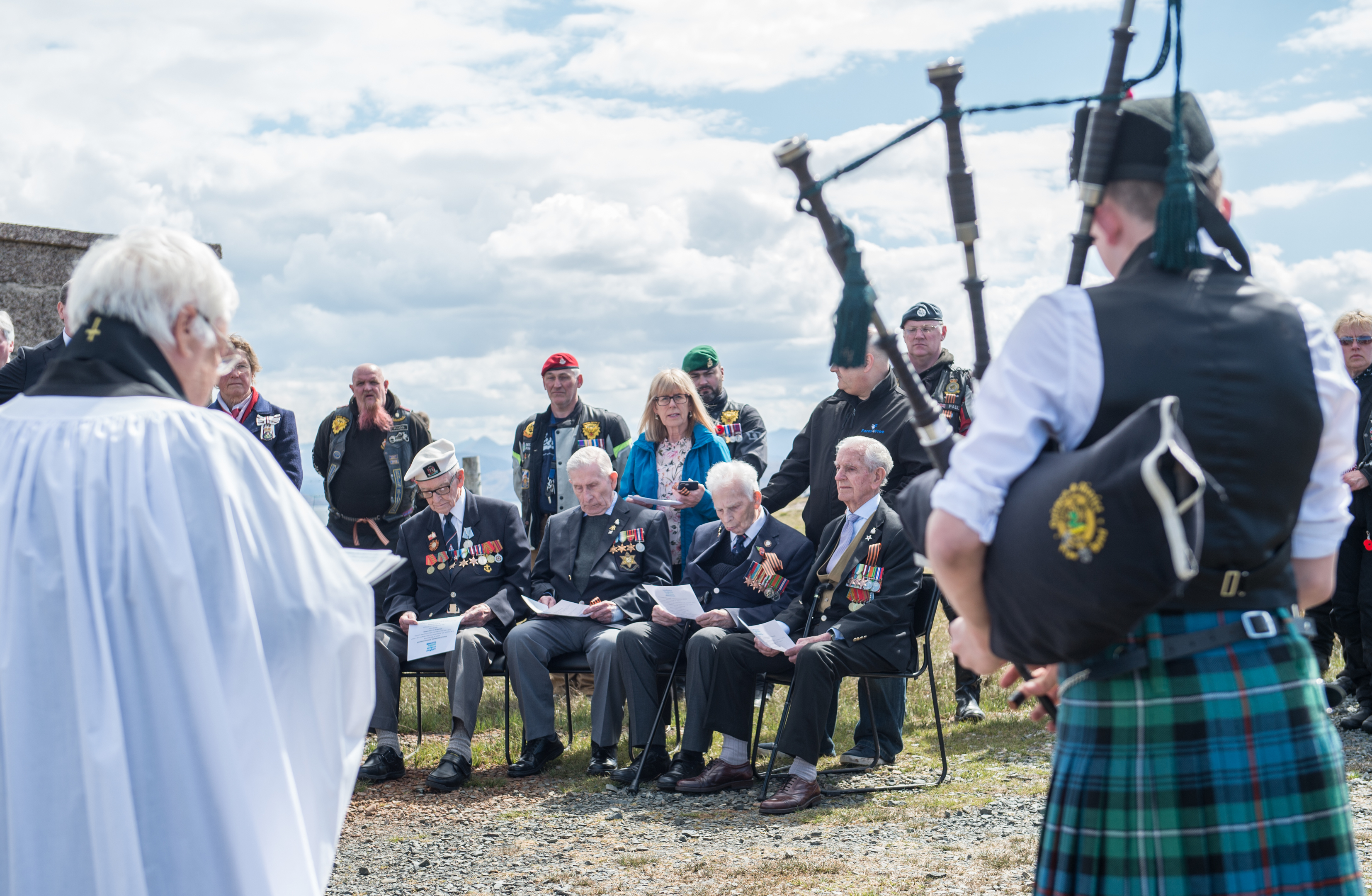 A memorial service is held for four veterans of the Arctic Convoys held in Loch Ewe, Wester Ross