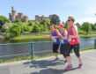 Runners taking part in the Race For Life event earlier this year on the Riverside Way.