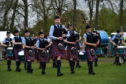 Bucksburn and District Junior Pipe Band play the North of Scotland Pipe Band Championship 2018 at King George V Park, Banchory