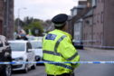 Police on the scene of an incident on High Street in Stonehaven.