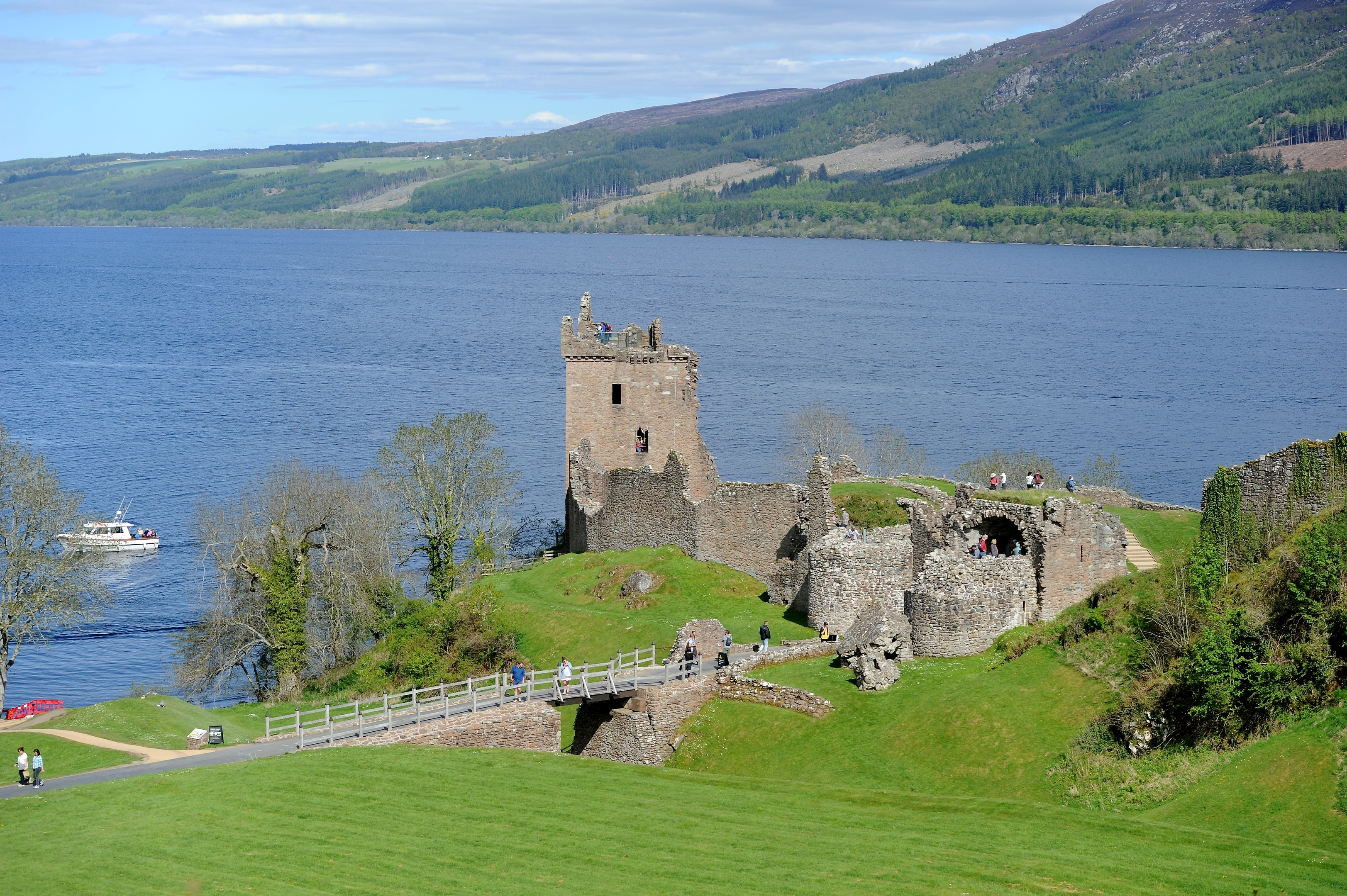 Urquhart Castle on the shore of Loch Ness. Picture by Sandy McCook