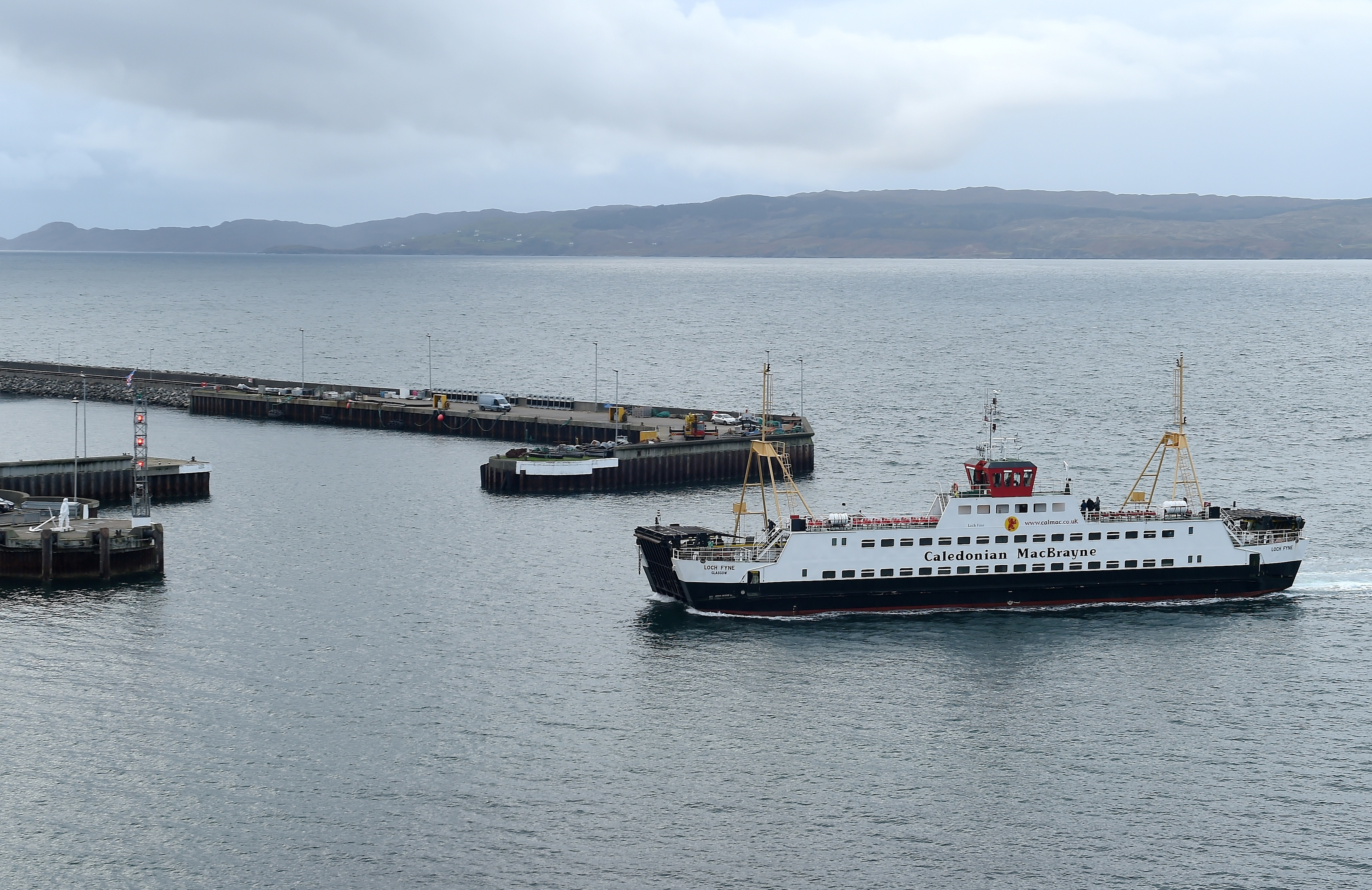 A Caledonian MacBrayne ferry in action