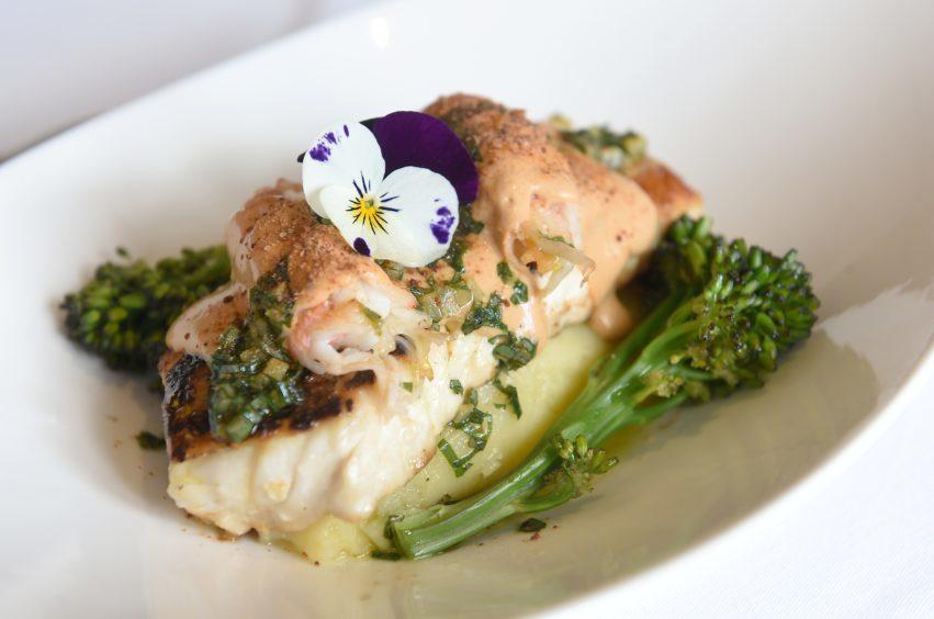 Pan roasted hake with langoustine