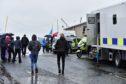 Rain threatened to spoil the Blue Light Festival