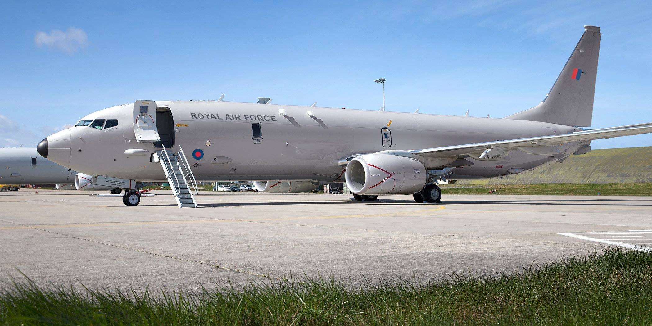 An artist impression of what a RAF P-8 Poseidon aircraft will look like.