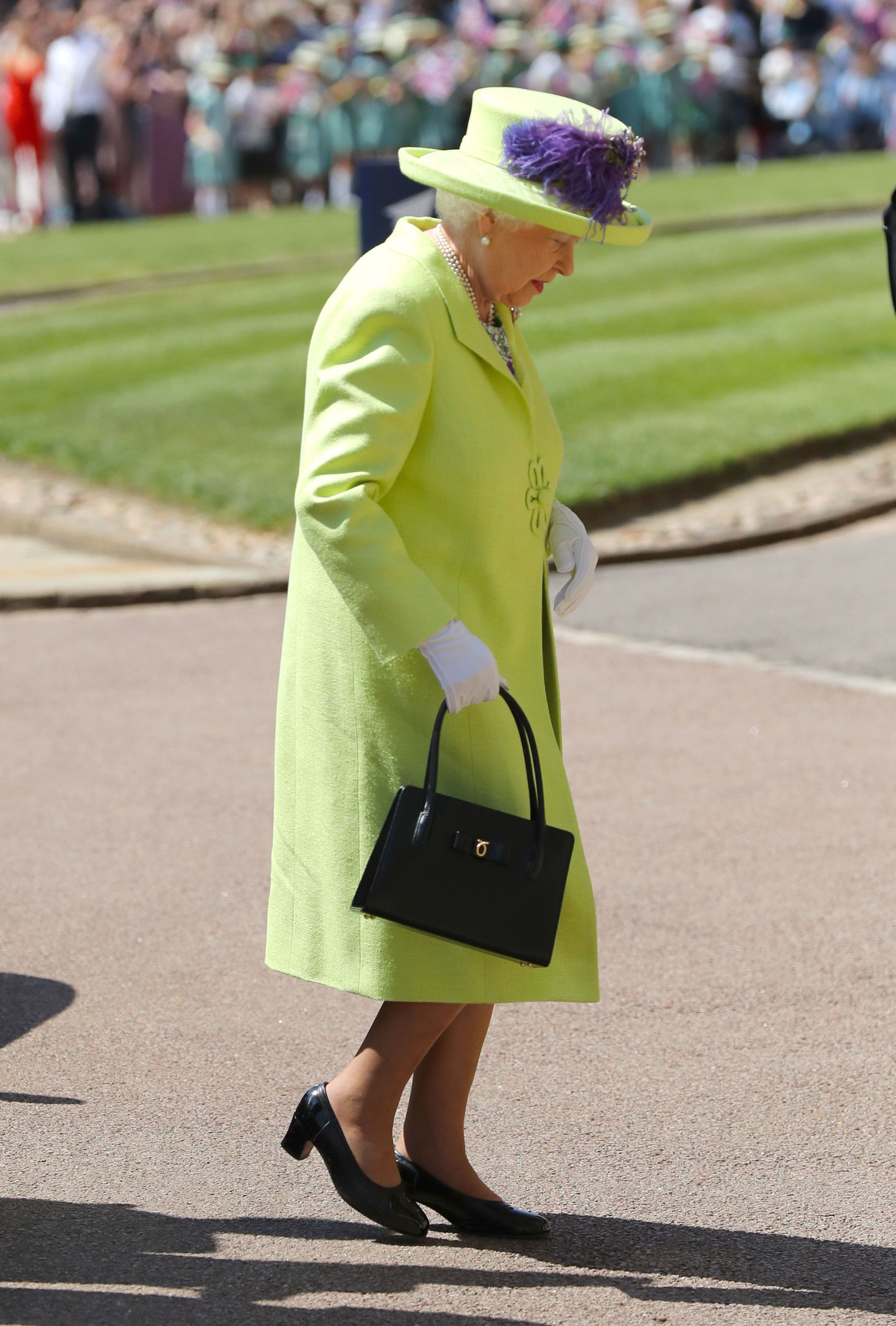 Queen Elizabeth II arrives at St George's Chapel. (Photo by Gareth Fuller/PA Wire)