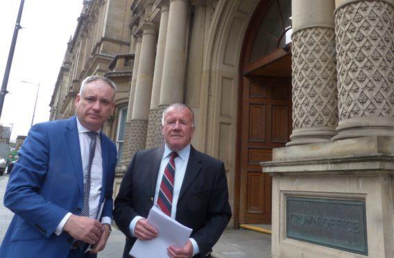 Richard Lochhead MSP and Jimmy Jones