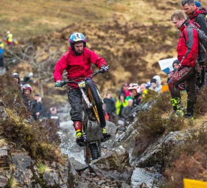 James Dabill still heads the Scottish Six Days Trial field.