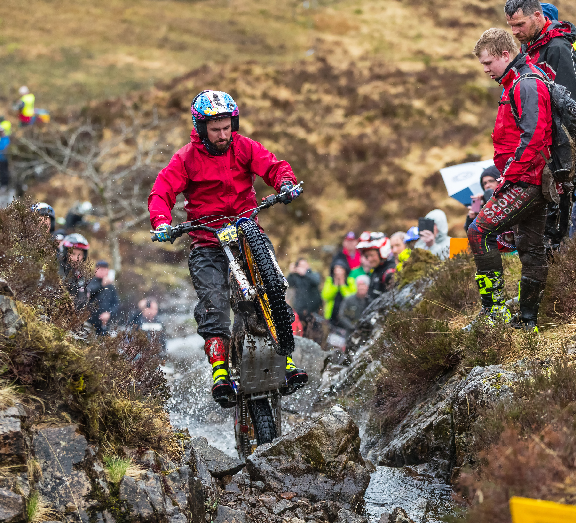 James Dabill still heads the Scottish Six Days Trial field.