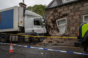 Mr Murray, 79, and his 80-year-old wife were woken by the commotion and emergency measures had to be put in place to prevent the corner of their home from collapsing