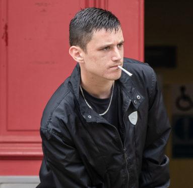 Thomas McLean leaving Elgin Sheriff Court.