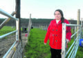 Mrs Lesley-Frost Schenk of Gruniards Farmhouse near Ardgay in Sutherland close to where twelve of her rare breeds sheep have believed been killed by dogs or dog.