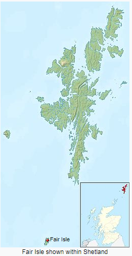 Fair Isle on the map. Picture: Wikipedia.