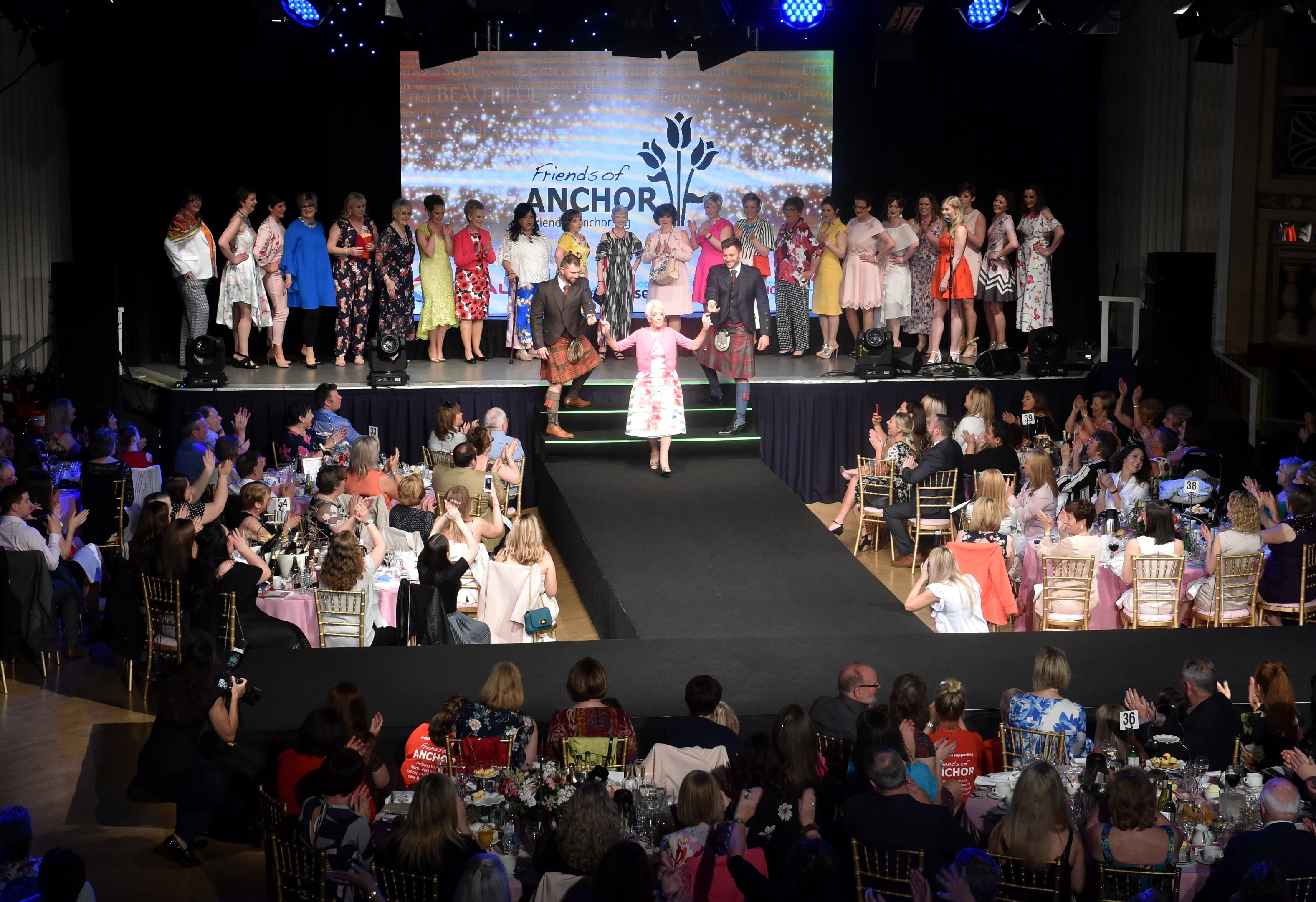 The women strut their stuff for Courage on the Catwalk 2018 on Saturday at Aberdeen's Beach Ballroom. Pictures by Colin Rennie