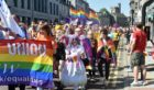 Grampian Pride 2018 on Aberdeen's Union Street. The event was a huge success.