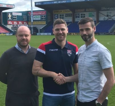Iain Vigurs, centre, returned to Ross County in the summer.