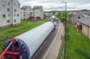The massive turbines have been transported through Nairn, Elgin and Keith for the last four weeks.