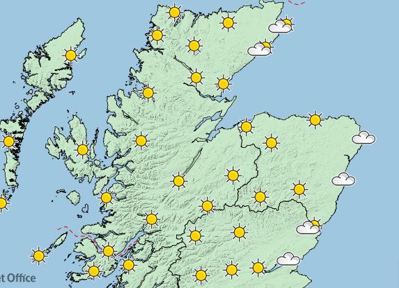 Sunshine has been forecast